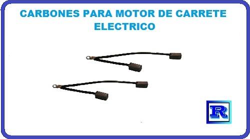 CARBONES PARA MOTOR DE CARETE ELECTRICO