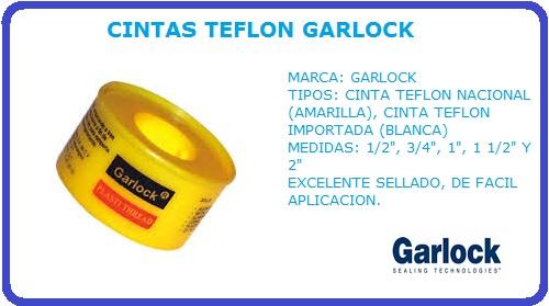CINTAS TEFLON GARLOCK, CINTA TEFLON, GARLOCK, PLASTI THREAD