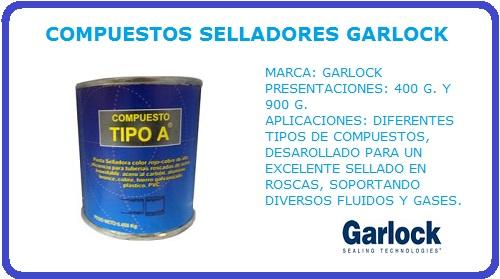 COMPUESTO SELLADOR TIPO A GARLOCK, SELLADOR TIPO A, TIPO A, GARLOCK