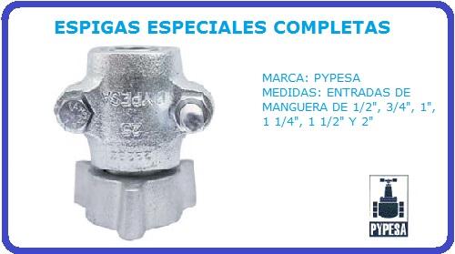 ESPIGAS ESPECIALES COMPLETAS