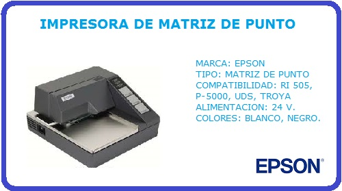 IMPRESORA EPSON, TM-U295, MATRIZ DE PUNTO, EPSON