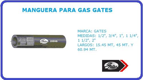 MANGUERA PARA GAS GATES
