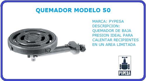 QUEMADOR MODELO 50