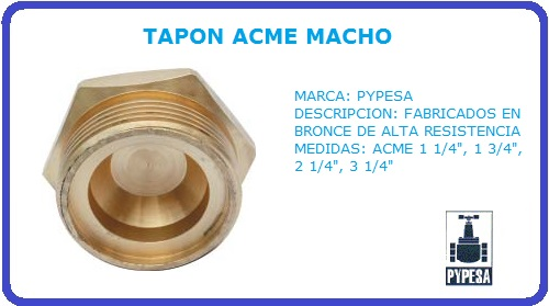 TAPON ACME MACHO