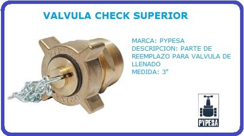 VALVULA CHECK SUPERIOR